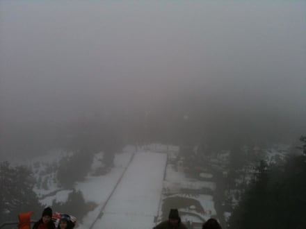 Wurmbergschanze von oben - Seilbahnfahrt zum Wurmberg