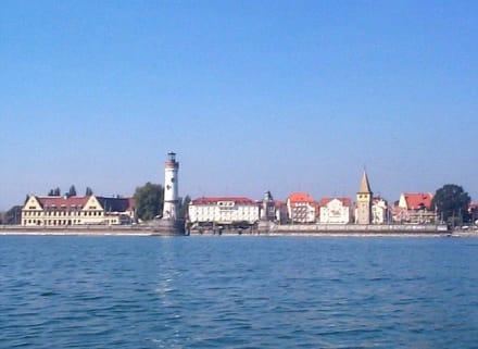 Lindau vom Bodensee aus geknipst - Hafen Lindau