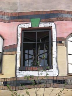 Waldspirale ein Fenster - Hundertwasserhaus Waldspirale