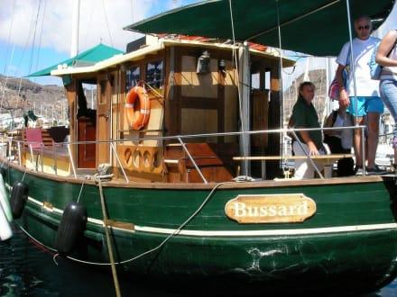 Das Ausflugsschiff - Die Bussard - - Ausflüge Schifffahrt Bussard Tazacorte