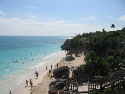 Strandabschnitt - Ruinen von Tulum