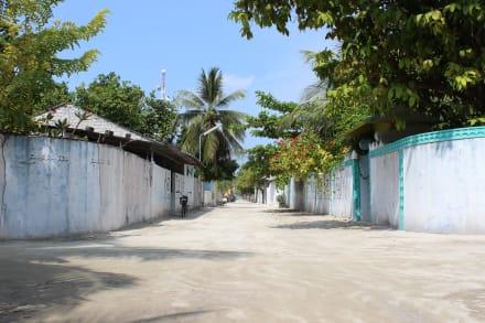 Rasdhu Island- Blick ins Dorf - Rasdhoo