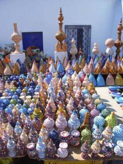 Bunte Keramik - Kamelmarkt Nabeul