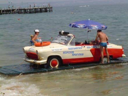 Schwimmendes Auto - Transport