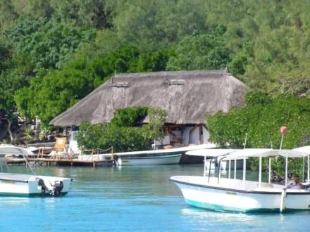 Bootssteg der Insel - Île aux Cerfs