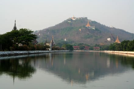 Blick auf den Mandalay Hill - Mandalay Hill