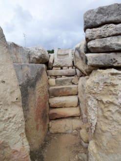 Ein Teil der Tempelanlage von Tarxien - Tempelanlage von Tarxien