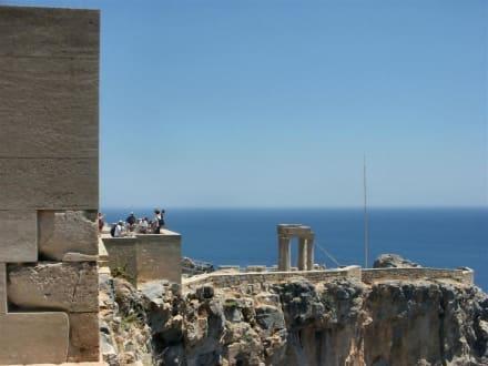 Ausblick - Akropolis von Lindos