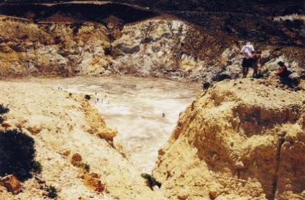 Menschen im und am Krater - Vulkankrater auf Nisyros