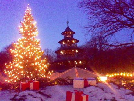 Christkindlmarkt am  Chinesischen Turm - Weihnachtsmarkt Chinesischer Turm