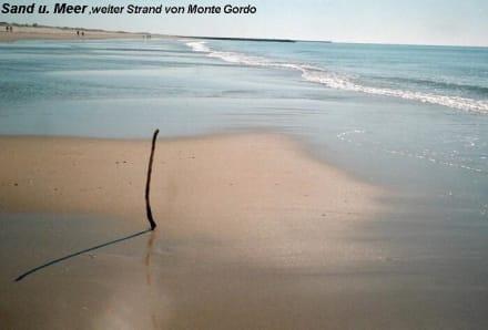 weiter Strand von Monte Gordo - Strand Monte Gordo