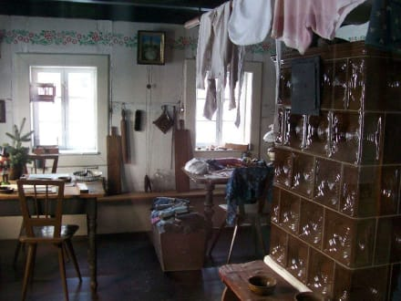 Wohnküche im Waldarbeiterhaus - Freilichtmuseum
