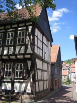 Ein Fachwerkhaus in der Altstadt von Gelnhausen. - Altstadt Gelnhausen