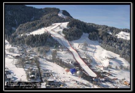 Hahnenkamm / Streif die Abfahrtsstrecke - Skigebiet Kitzbühel