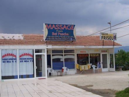 Masagepraxis bei Pasha und Frisör Neco - Massage Praxis