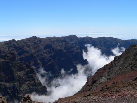 Standort Obesevatorium, Blick Richtung Teide - Vulkane San Antonio und Teneguía