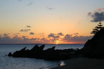 Lagoon Beach im letzten Licht - Lord Howe Island