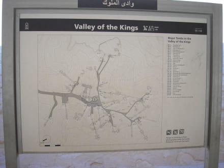 Infotafel im Tal der Könige - Tal der Könige
