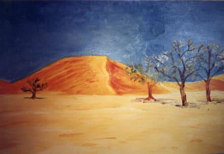 Sanddüne in der Wüste Namib am Rande des Sossusvlei - Dünen Sossusvlei