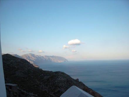 Blick vom Kloster nach Norden - Chora von Amorgos