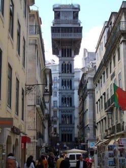 Der Elevator von Eiffel - Elevador de Santa Justa