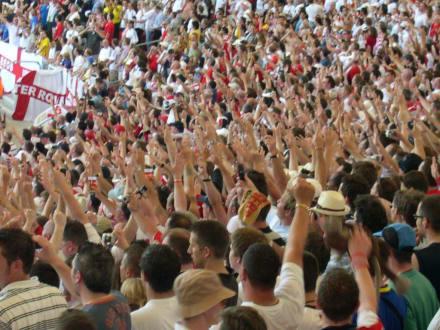 Stimmung im Stadion - Mercedes-Benz Arena