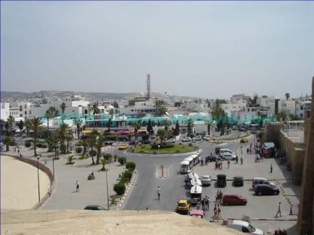 Blick zum Zentrum - Zentrum Hammamet