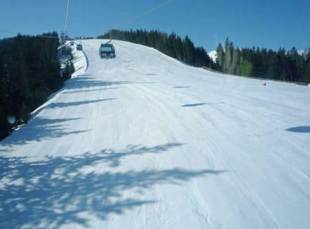Skiabfahrt am Asitz in Leogang zur Mittelstation - Asitz