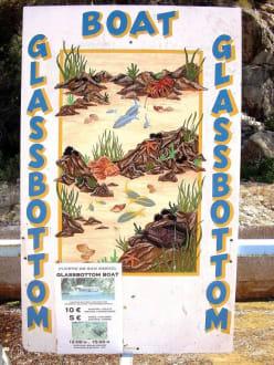 Infotafel - Glasbodenboot Tour San Miguel