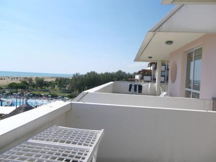 Ausblick vom Balkon - Aparthotel Holiday