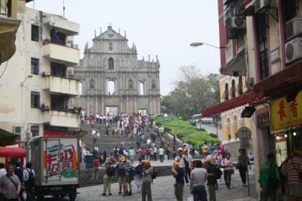 Fassade der Kirche Sao Paulo - Ruine Sao Paulo