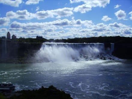 Niagara, Blick auf die US Seite derFälle - Niagarafälle / Horseshoe Falls