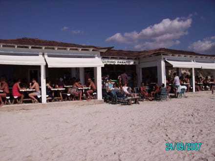 Gaststätte am Anfang des Es Trenc - Platja Es Trenc