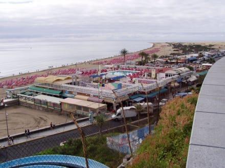 Blick auf den Strand von Playa del Ingles - Strand Playa del Ingles
