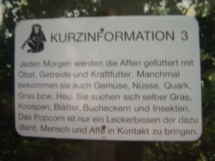 Info Tafel - Affenberg