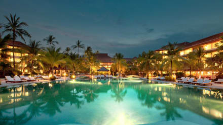 Westin Main Pool at Night -