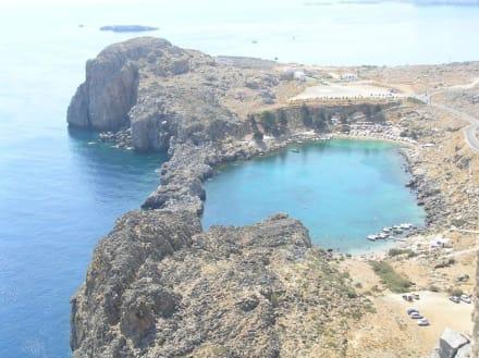 Bucht in Lindos - Akropolis von Lindos