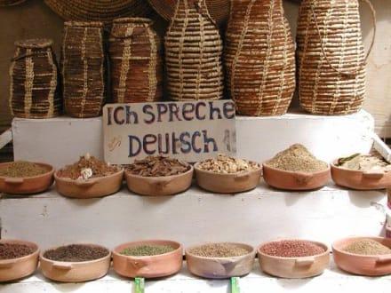 Überall...deutsch - Bazar von Assuan