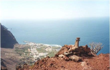 Ein Blick von dem Berg. - Landschaft im Valle Gran Rey