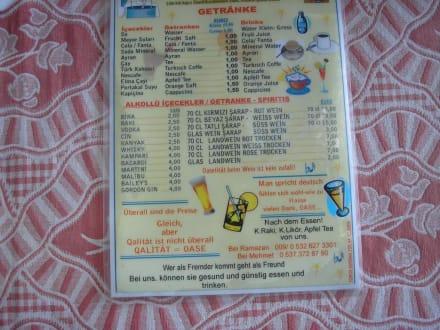 Speisekarte 2 - Restaurant Mehmet Oase