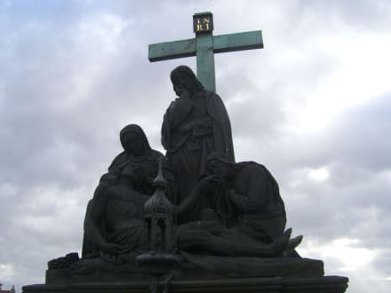 Figur auf der Karlsbrücke - Karlsbrücke