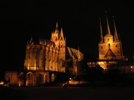 Dom und Severi bei Nacht - Erfurter Dom