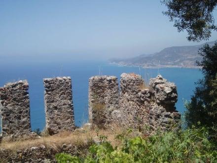 Atemberaubende Landschaft - Burg von Alanya  (Ic Kale)
