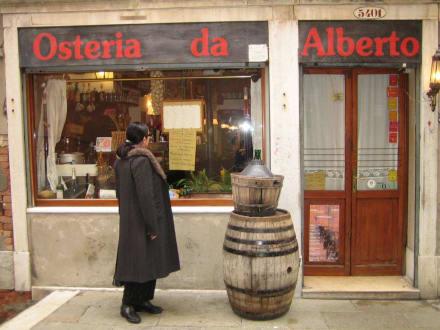 Ein typisch venezianisches Restaurant - Osteria Da Alberto