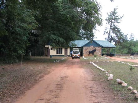 Einfahrt in den Shimba Hills Natonalpark - Shimba Hills National Reserve