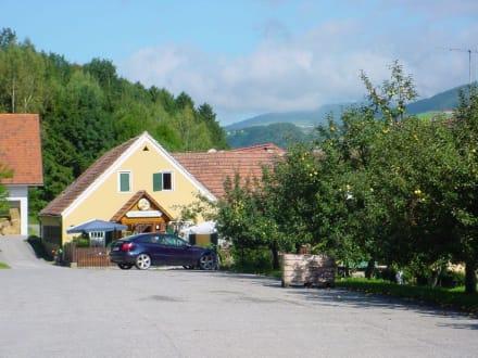 Beginn des Wanderweges - Restaurant zur Grünen Au