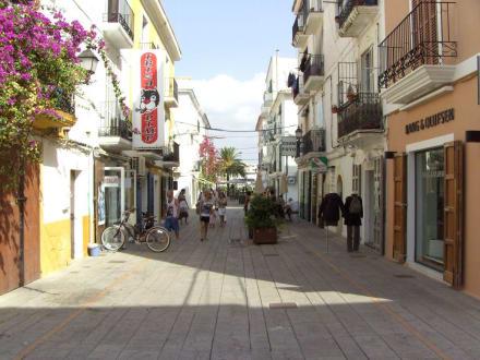 schöne Straße in der Unterstadt - Unterstadt Sa Penya