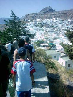 Der Weg von Lindos zur Akropolis und zurück - Akropolis von Lindos