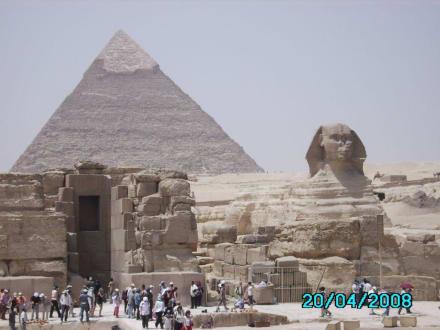 In Kairo - Pyramiden von Gizeh
