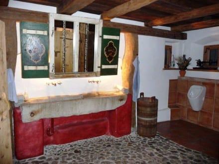 au ergew hnliche toilette des hasen hrhofes bild hasen hrlhof in bayrischzell. Black Bedroom Furniture Sets. Home Design Ideas